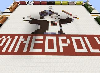 Mineopoly map board game Monopoly for Minecraft