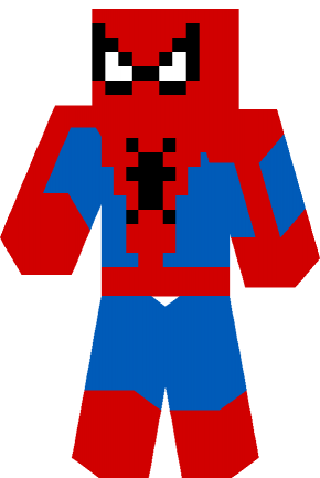 Spiderman classic skin for Minecraft game