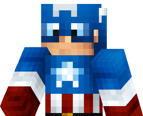 Captain America skin for Minecraft 3D