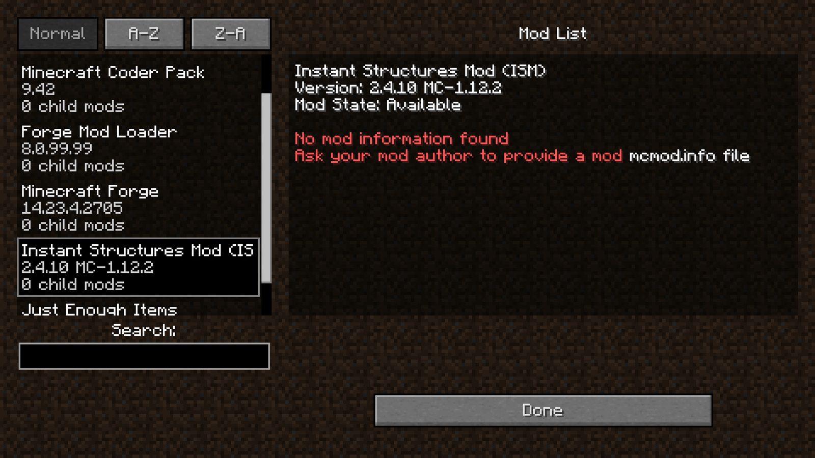 Minecraft quick build mod 1.12.2