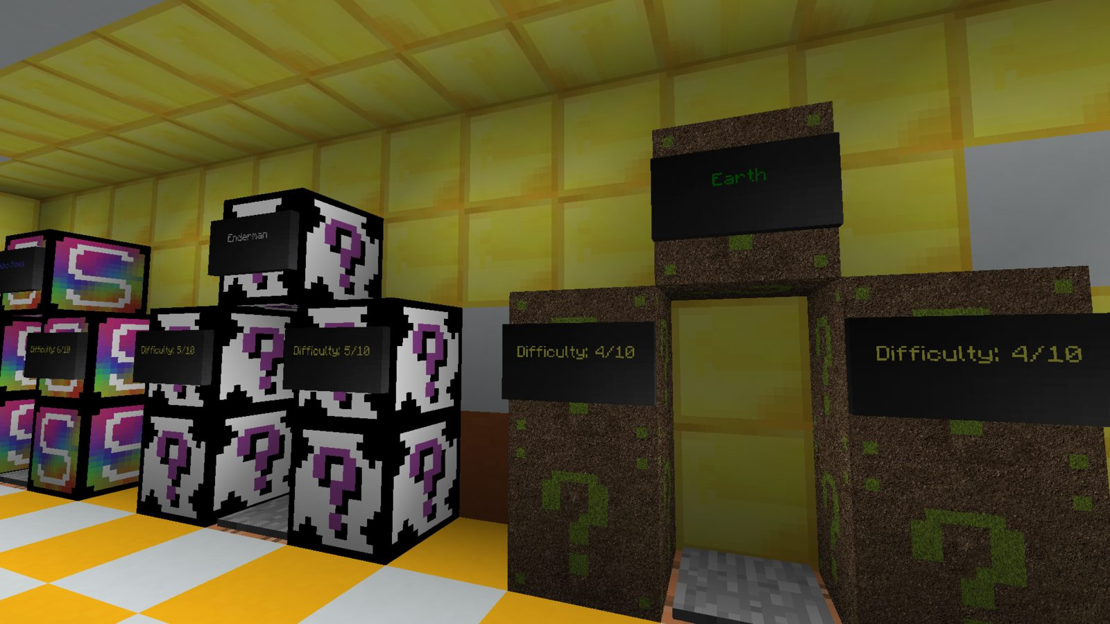 Lucky Block Find The Button map for Minecraft 1 13