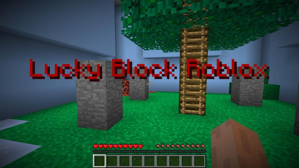 Lucky Block Find the Button map for Minecraft