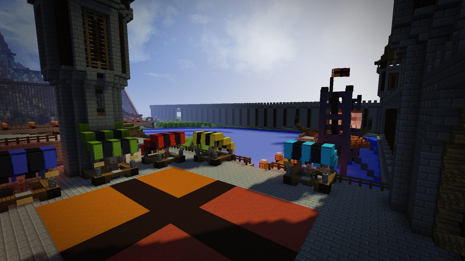 Topo Castle park map for Minecraft 1 11 2 - the small map