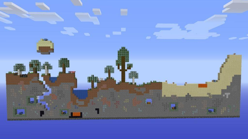 2D Survival map for Minecraft