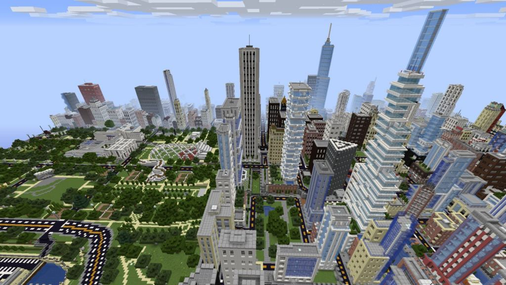 Chicago map for Minecraft 1 13 1- a huge city map for exploring