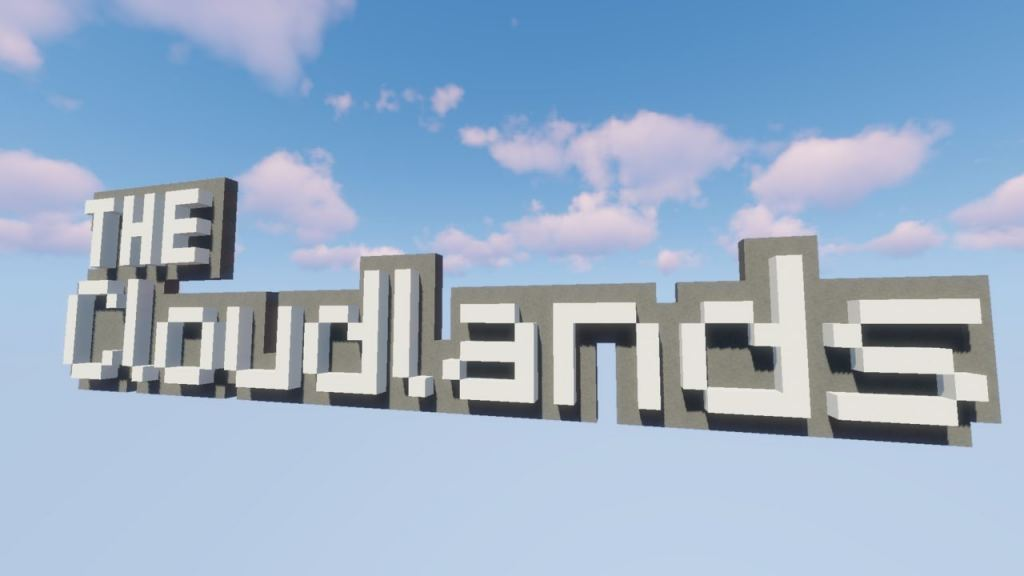 Cloudlands map for Minecraft