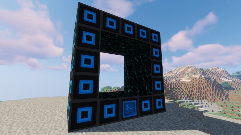 Portality mod 1.12.2 for Minecraft - travel through portals
