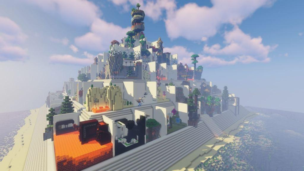 Parkour Pyramid map for Minecraft