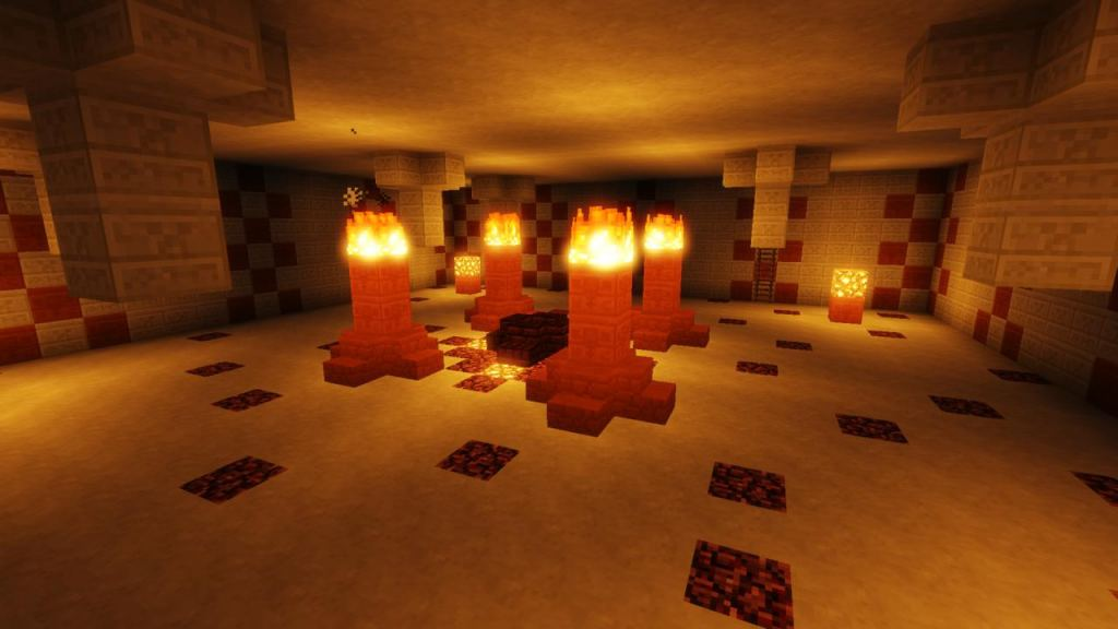 Ruby Caverns map for Minecraft