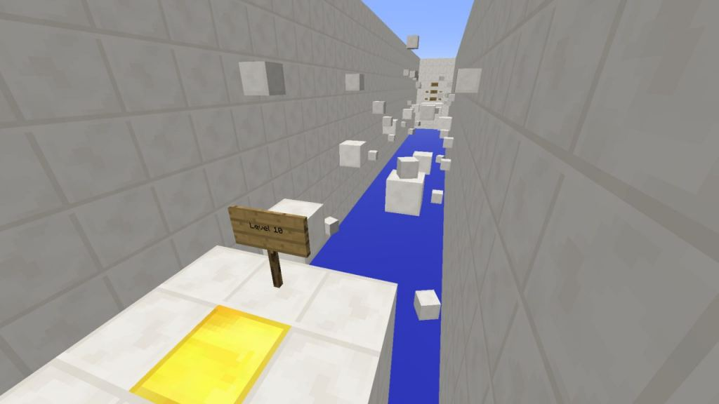 Speed Reading Parkour map for Minecraft