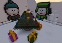 Christmas parkour map for Minecraft 1