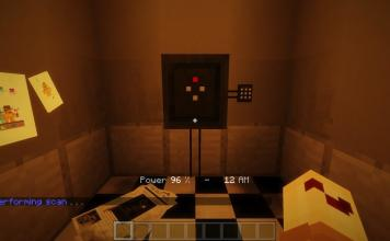 Five nights in the dark map for Minecraft - screenshot 2