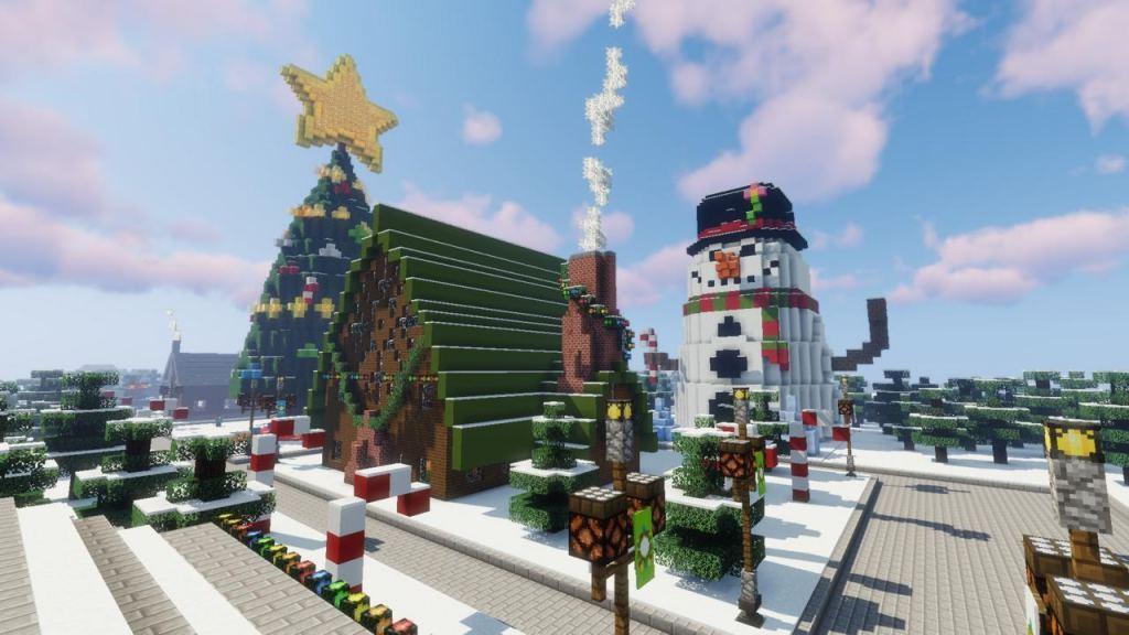 Santa's Village map for Minecraft