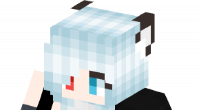 Wolf Girl Red And Blue Eyes skin