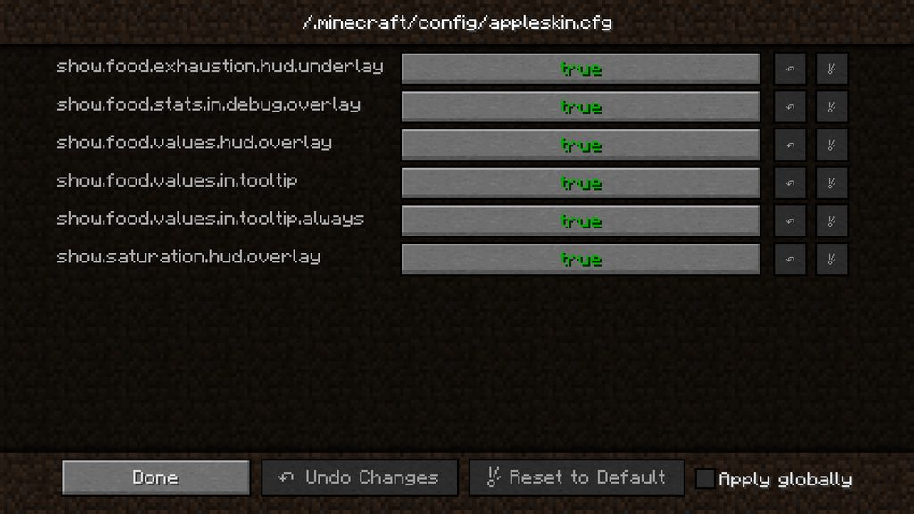 AppleSkin mod for Minecraft - screenshot 1