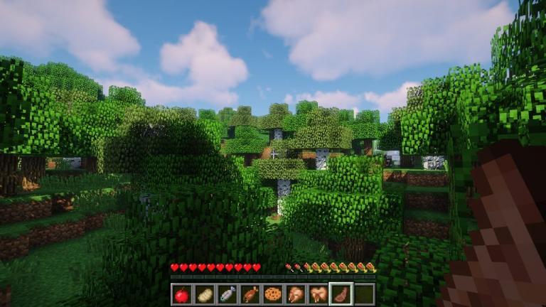 AppleSkin mod for Minecraft - screenshot 2