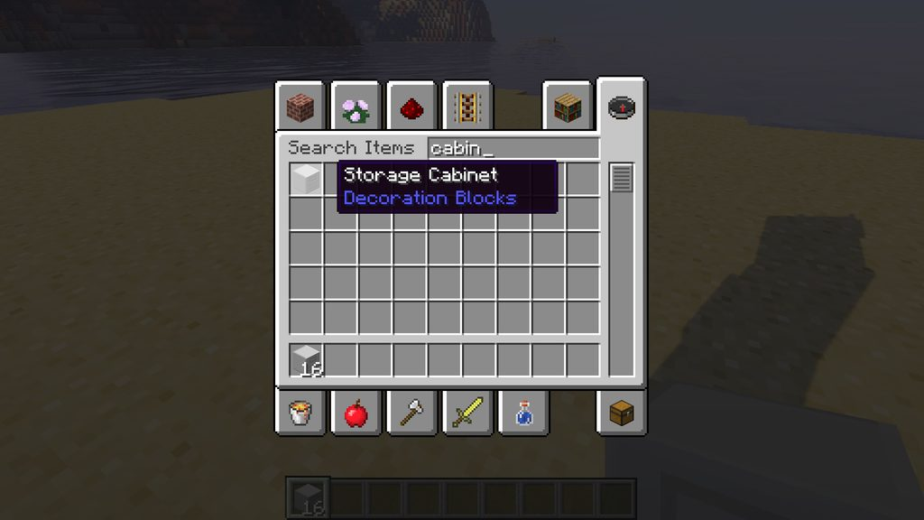 Storage Cabinet mod for Minecraft - screenshot 2