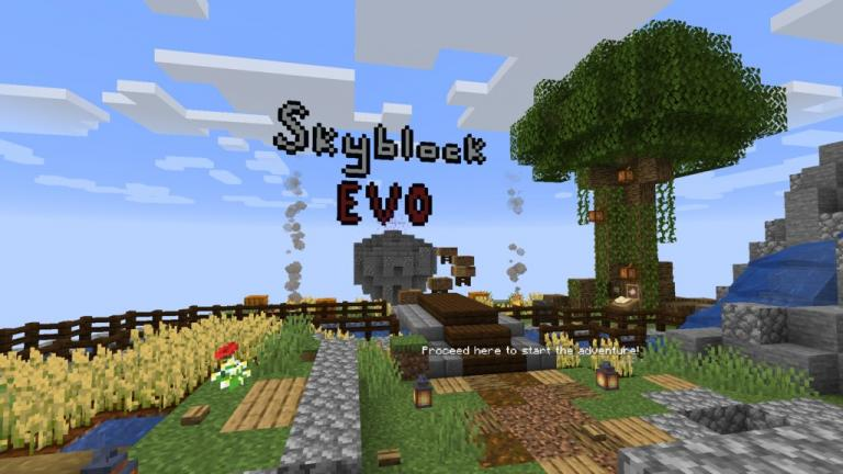 SkyBlock Evo map for Minecraft - screenshot 1