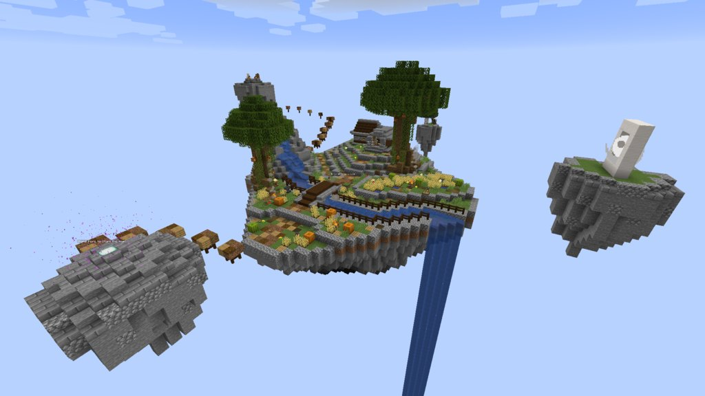 SkyBlock Evo map for Minecraft 1 14 - evolution of floating island maps
