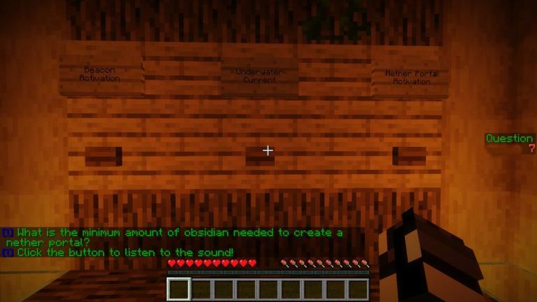 100 Question Quiz map for Minecraft - screenshot 5