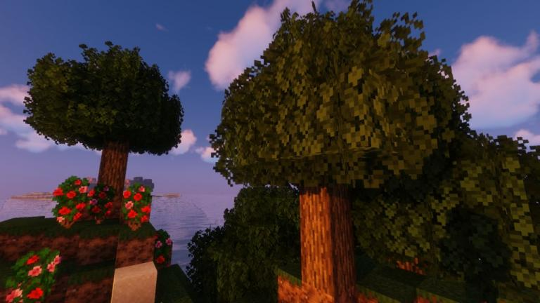 Better Leaves addon resource pack for Minecraft - screenshot 2