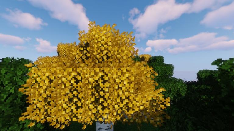 Better Leaves addon resource pack for Minecraft - screenshot 5