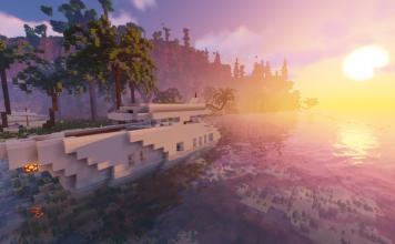 Secret Island map for Minecraft - screenshot 1