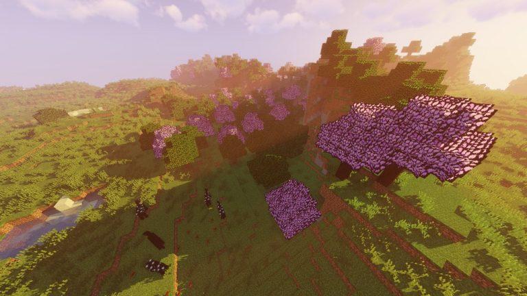 Sakura Trees resource pack for Minecraft - screenshot 1