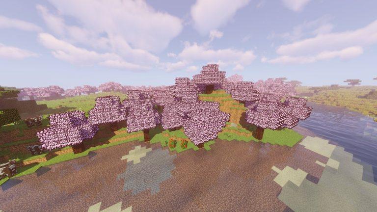 Sakura Trees resource pack for Minecraft - screenshot 3