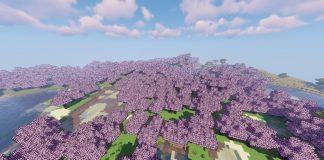 Sakura Trees resource pack for Minecraft - screenshot 5