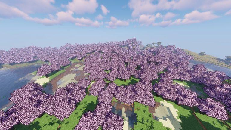 Sakura Trees resource pack for Minecraft - screenshot 5