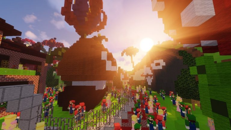 Super Mario Edition - Hide and Seek map for Minecraft - screenshot 3