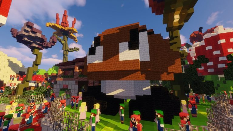 Super Mario Edition - Hide and Seek map for Minecraft - screenshot 4