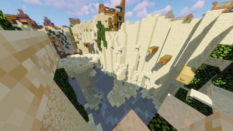 King of Parkour Land map for Minecraft - screenshot 1