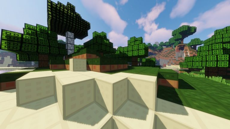 Squares resource pack for Minecraft - screenshot 3