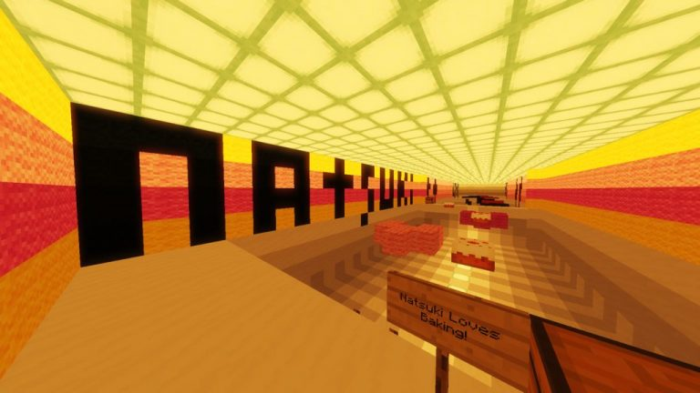 Doki Doki Literature Club parkour map for Minecraft - screenshot 3