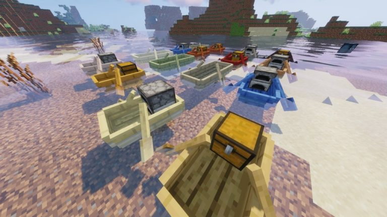 Extra Boats mod for Minecraft - screenshot 3